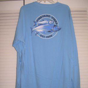 VINEYARD VINES Fish Long-Sleeve Pocket TEE